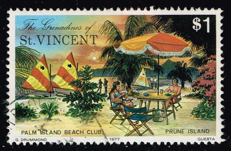 St. Vincent-Grenadines #126 Beach Club; Used (1.00)