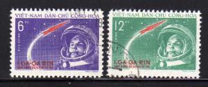 North Vietnam 160-161 Set U Yuri Gagarian's Space Flight (A)