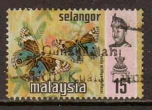 Malaya-Selangor  #133b  used  (1977)  c.v. $1.90