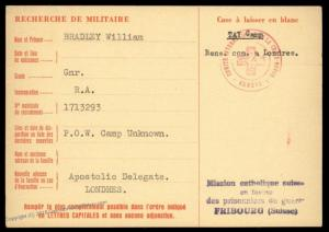 UK 1944 Vietnam TAY Camp Malaya Japanese POW Red Cross Cover Catholic Swit 89597