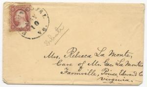 VA Cover US Scott #26 Front Royal. VA May 10, 1859 Black CDS