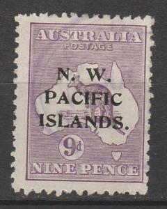 NWPI  NEW GUINEA 1918 KANGAROO 9D 3RD WMK USED