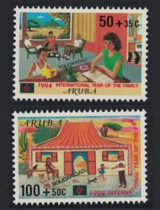 Aruba 'Solidarity' Intl Year of The Family 2v 1994 MNH SG#144-145
