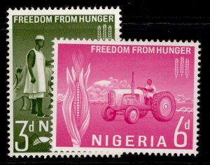 NIGERIA QEII SG129-130, complete set, M MINT.