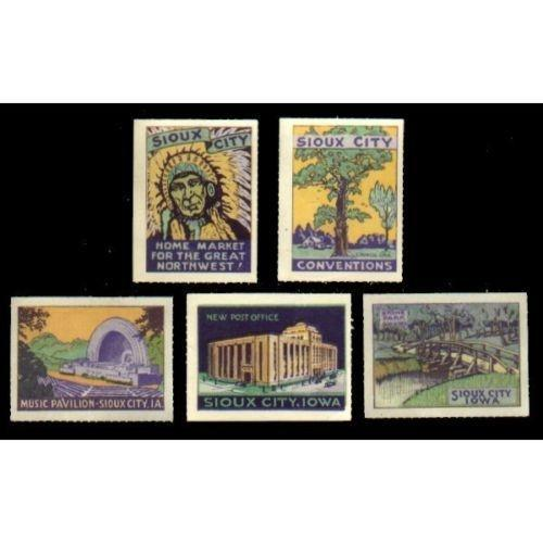 US - Sioux City Iowa Poster Stamps