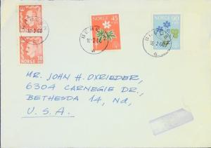 Norway SC# B62 & B63 On Cover to USA - Z3145