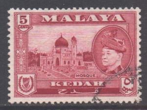 Malaya Kedah Scott 86 - SG95, 1957 Sultan 5c used