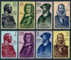 Spain 1013-1020,MNH.Mi 1269-1276. Builders of New World,1961.Colombia,Bolivia,