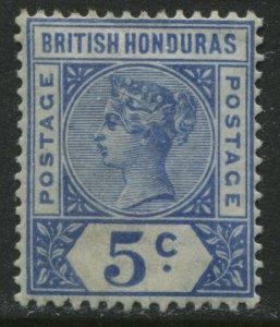 British Honduras QV 1900 5 cents ultra mint o.g. hinged