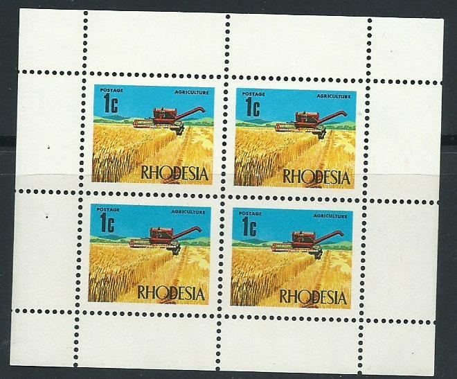 Rhodesia SG 439a MUH  booklet pane  Margin with very ligh...