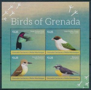 [108771] Carriacou & Petite Martinique 2015 Birds vögel oiseaux Mini sheet MNH