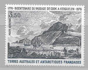 French Antarctia FSAT C46 Capt. Cooks Ships single MNH