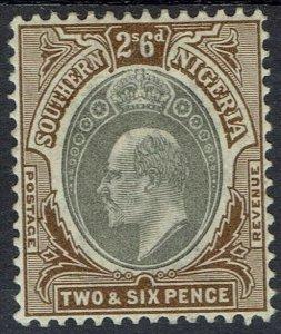 SOUTHERN NIGERIA 1903 KEVII 2/6 WMK CROWN CA