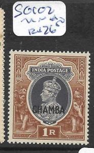 INDIA CHAMBA (P0512B) KGVI 1R  SG 102    MNH