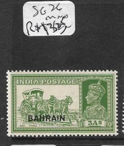 BAHRAIN (P2411B)  ON INDIA KGVI 3A  COW  SG 26  MNH