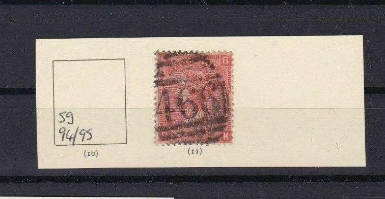 GB VICTORIA SG94  PLATE 11,  4d VERMILION  STAMP USED CAT £90  REF 4721