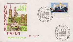 Germany, First Day Cover, Ships