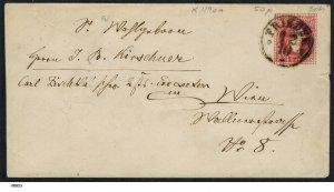 Austria 5kr 1870 Stamped Envelope Friedek (?) to Vienna