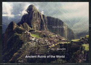 NEVIS 2017 ANCIENT RUINS OF THE WORLD SOUVENIR  SHEET  MINT NH