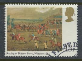 Great Britain  SG 1090 SC# 866 Used / FU with First Day Cancel - Horse Racing...