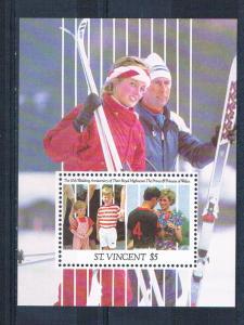 St Vincent 1496 MNH SS 10th wedding aniversary 1991 (S0915)