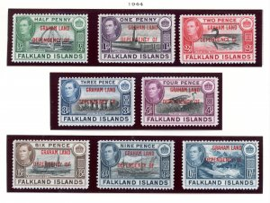 Falkland Islands Dependencies Graham Land 2L1-2L8 MH 1944