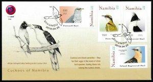 NAMIBIA/2019, (FDC) BIRDS (CUCKOOS) OF NAMIBIA, MNH