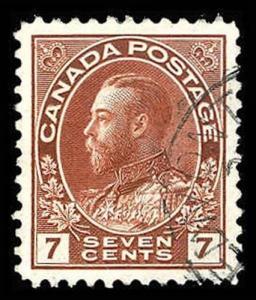CANADA-f-b-1903-1926 ISSUES (89-140) 114v  Used (ID # 85321)