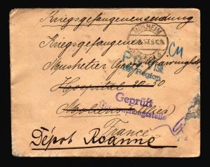 Germany 1917 POW Cover / Re-Directed / MULHEIM CDS - Z14400