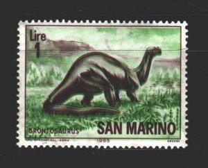 San Marino. 1965. 833. Dinosaurs. MNH.