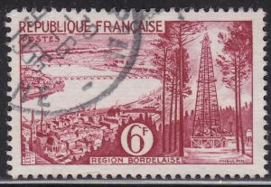 France 774 USED 1955 Bordeaux 6Fr