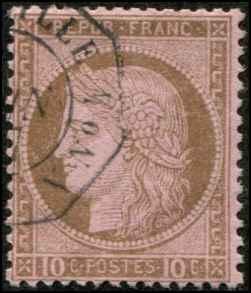 France SC# 60 Ceres 10c Used SCV $17.50