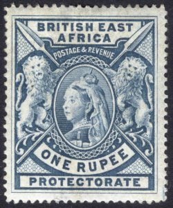 KUT-BEA 1901 1r Dull Blue SG 92a Scott 102a LMM/MLH Cat £100($135)