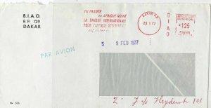 Senegal 1977 Dakar Cancel Bank Internat. Slogan Meter Mail Stamps Cover Ref29319