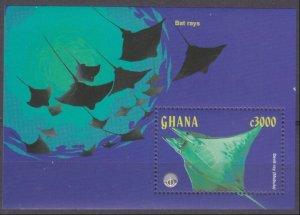 1998 Ghana 2833/B358 Sea fauna 7,00 €