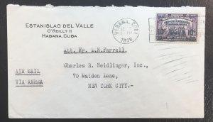Cuba #270,319,355,364,373,C5,C13 on 7 Covers (1932-1942 cancels)