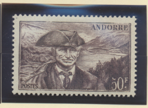Andorra (French Administration) Stamp Scott #104, Mint Hinged - Free U.S. Shi...