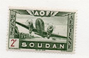 French Sudan 1940s Air Mail Early Issue Fine Mint Hinged 2F. 229537