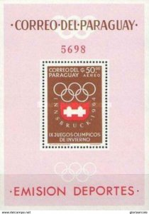 SW1299 - Paraguay - 1963 - Winter Olympic Games 1964 Innsbruck -- MNH Minisheet
