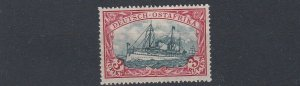 GERMAN EAST AFRICA  1919  S G 44C   3R   BLUE BLACK RED    MH