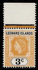 LEEWARD ISLANDS QEII SG129, 3c yellow-orange and black, NH MINT.