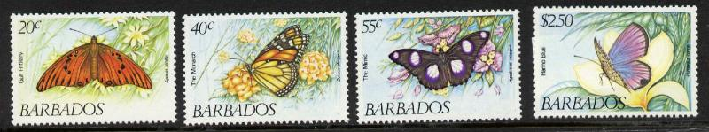 Barbados 602-6 MNH Butterflies, Flowers