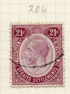 Malaya Straights Settlements 1912 Early Issue Fine Used 21c. 281284