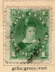 Newfoundland 1887 Early Issue Fine Used 1c. NW-11923