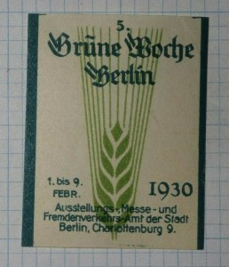 Wheat Farming 1930 Berlin Exposition Poster Stamp Ads