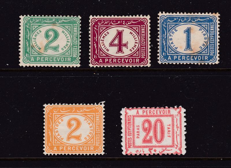 Egypt x 5 mint early Post Due