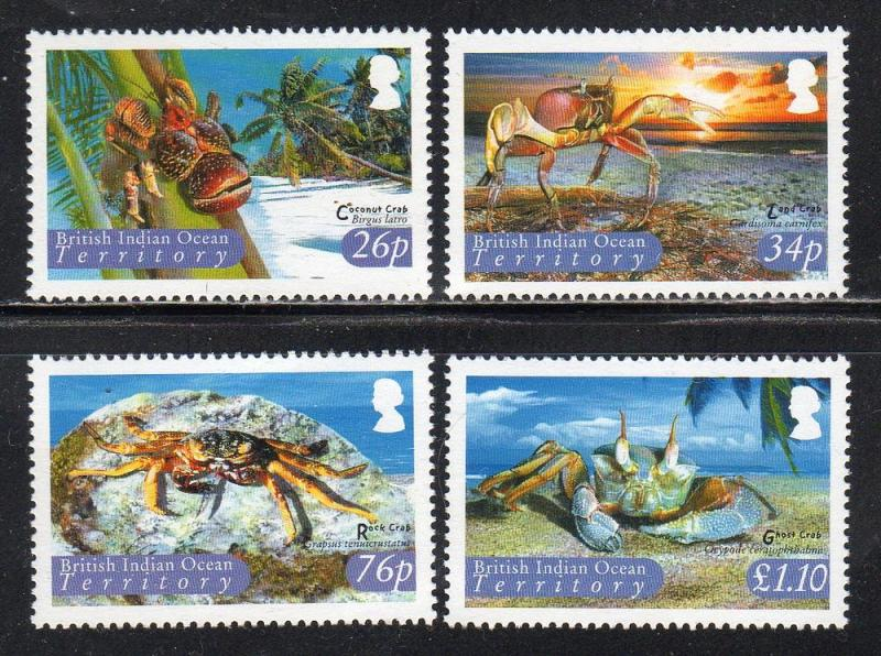 British Indian Ocean Territory 286-89 - Mint-NH - Crabs (cv $13.00)