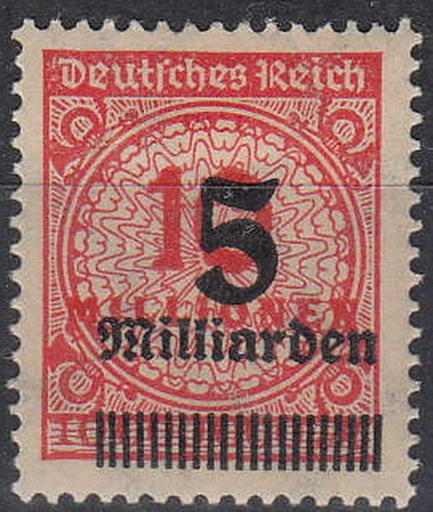 Stamp Germany Reich Mi 334 Sc 313 1923 Inflation Number Rosette Overprint MH