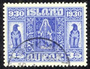 Iceland Sc# 160 Used 1930-  35a Definitives