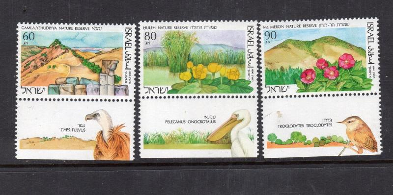 Israel Nature Reserve   3 var   mnh  with tabs